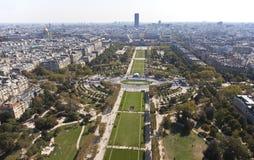 Opinión de París imagen de archivo