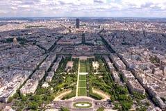 Opinión de París Fotos de archivo