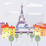Opinión de París con estilo abstracto. Foto de archivo libre de regalías