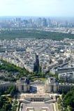 Opinión de París de la torre Eiffel Imágenes de archivo libres de regalías