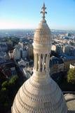 Opinión de París de Sacré Coeur Imagen de archivo libre de regalías