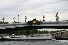 Opinión de París del río Fotos de archivo