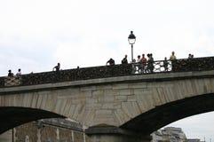 Opinión de París del río Imagen de archivo