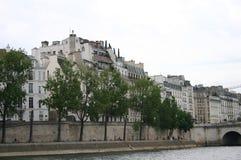 Opinión de París del río Fotografía de archivo