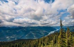 Opinión de parque nacional de Revelstoke del montaje Imagen de archivo libre de regalías