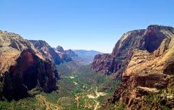 Opinión de parque nacional de Zion imagen de archivo libre de regalías
