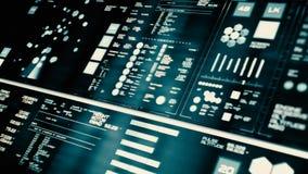Opinión de perspectiva del interfaz futurista de baja potencia/de Digitaces screen/HUD