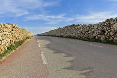 Opinión de perspectiva de un camino que separa fotos de archivo libres de regalías
