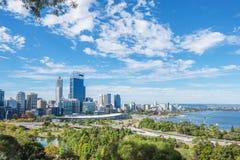 Opinión de Perth al mediodía Imagen de archivo libre de regalías