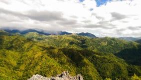 Opinión de pico de montaña Fotografía de archivo