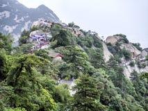 Opinión de pico del norte de la montaña de Huashan - Xian, provincia de Shaaxi, China fotos de archivo libres de regalías