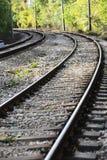 Opinión de pistas de ferrocarril Imagen de archivo libre de regalías