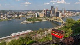 Opinión de Pittsburgh Foto de archivo libre de regalías