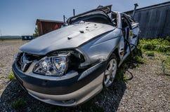 opinión de plata del accidente de tráfico Foto de archivo libre de regalías