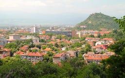 Opinión de Plovdiv Foto de archivo libre de regalías