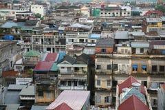 Opinión de Pnom Pehn Fotografía de archivo