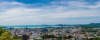 Opinión de Pnorama de la ciudad de Phuket Imagenes de archivo