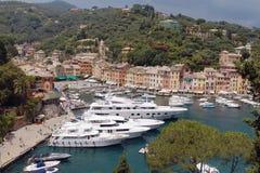 Opinión de Portofino fotografía de archivo libre de regalías