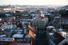 Opinión de Praga Imagen de archivo libre de regalías