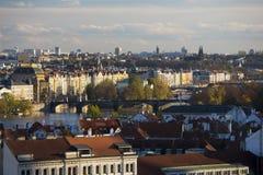 Opinión de Praga Imagen de archivo