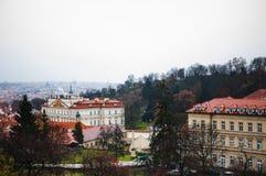 Opinión de Praga Foto de archivo libre de regalías