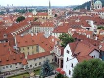 Opinión de Praga Ariel fotos de archivo