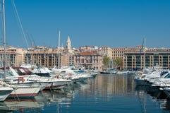 Opinión de puerto viejo de Marsella Imagen de archivo libre de regalías