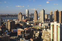Opinión de río de Hudson, Nueva York Imagen de archivo libre de regalías