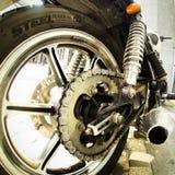 Opinión de Rearside de una motocicleta Fotos de archivo libres de regalías