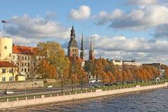 Opinión de Riga Foto de archivo libre de regalías