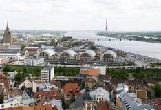 Opinión de Riga Fotografía de archivo