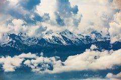 Opinión de Rigi Kaltbad a las montañas suizas Fotos de archivo libres de regalías