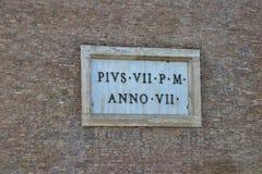 Opinión de Roma, Italia - de Colosseum foto de archivo