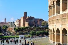 Opinión de Roma, Italia - de Colosseum fotografía de archivo libre de regalías
