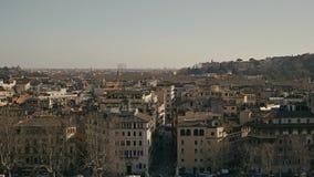 Opinión de Roma, Italia, Europa de Castel Sant Angelo el día de verano Tiro de la cacerola almacen de metraje de vídeo