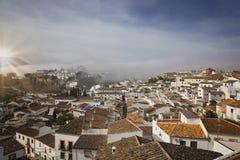Opinión de Ronda, España desde arriba Imagen de archivo