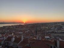 Opinión de São Jorge Castle de Lisboa Fotografía de archivo libre de regalías