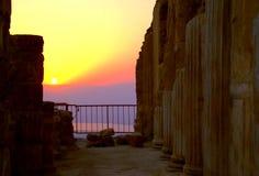Opinión de Sanrise de Masada Fotografía de archivo