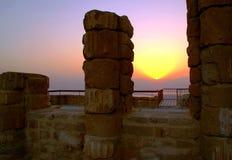 Opinión de Sanrise del palacio de Herod Imagen de archivo libre de regalías