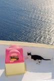 Opinión de Santorin Imagenes de archivo