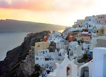 Opinión de Santorini imagenes de archivo
