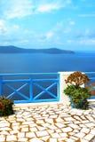 Opinión de Santorini Imagen de archivo