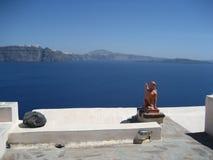 Opinión de Santorini fotos de archivo