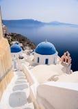 Opinión de Santorini Fotografía de archivo