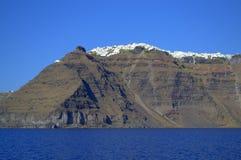 Opinión de Santorini del mar Fotos de archivo libres de regalías