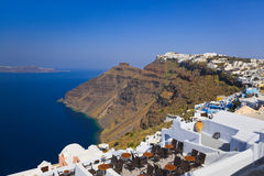 Opinión de Santorini - Grecia Imágenes de archivo libres de regalías