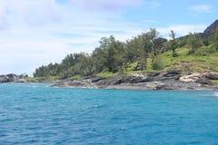Opinión de Seychelles Foto de archivo