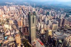 Opinión de Shenzhen desde arriba imagenes de archivo