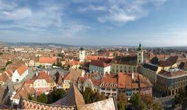 Opinión de Sibiu Imagen de archivo libre de regalías