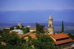 Opinión de Signagi al valle de Alazani Imágenes de archivo libres de regalías